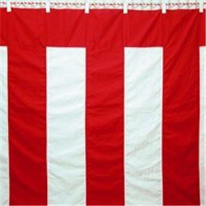 (業務用2セット) 八光舎 紅白幕 3間物 180×540cm