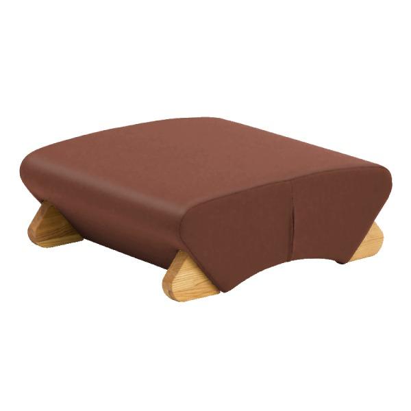 デザイン座椅子 (イス チェア) 脚:クリア/ビニールレザー:ブラウン 【Mona.Dee モナディー】WAS-F 茶