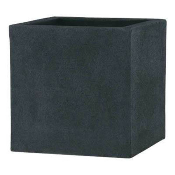 軽量植木鉢/プランター 【ブラック 40cm】 穴有 ツヤ消し ファイバー製 『BL チェルトンハム』