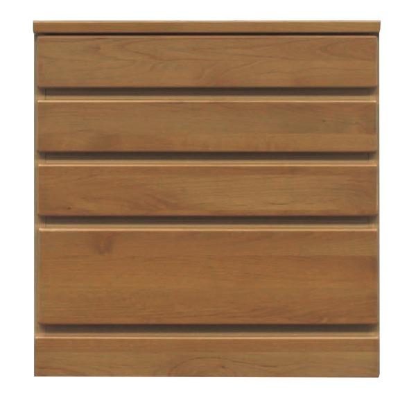 4段チェスト/ローチェスト 【幅60cm】 木製(天然木) 日本製 ブラウン 【完成品】【玄関渡し】 茶