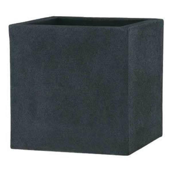 軽量植木鉢/プランター 【ブラック 60cm】 穴有 ツヤ消し ファイバー製 『BL チェルトンハム』