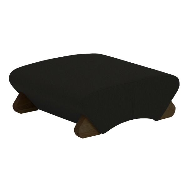 デザイン座椅子 (イス チェア) 脚:ダーク/布:ブラック 【Mona.Dee モナディー】WAS-F 黒