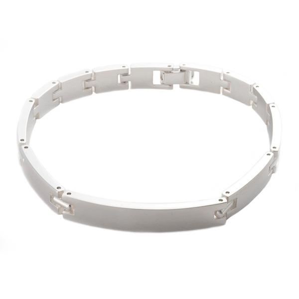 ブレスレット Lサイズ 20cm 銀製 磨き仕上げ 日本伝統工芸品 ハンドメイド スターリングシルバー