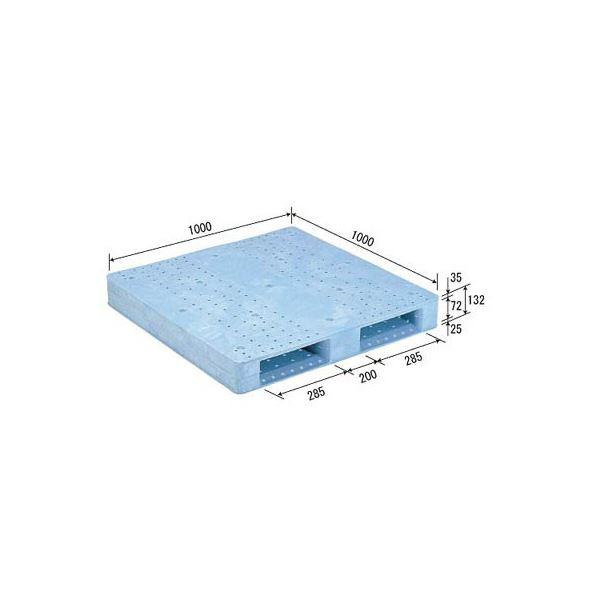 三甲(サンコー) プラスチックパレット/プラパレ 【片面使用型】 軽量 D2-1010F ライトブルー(青) 青