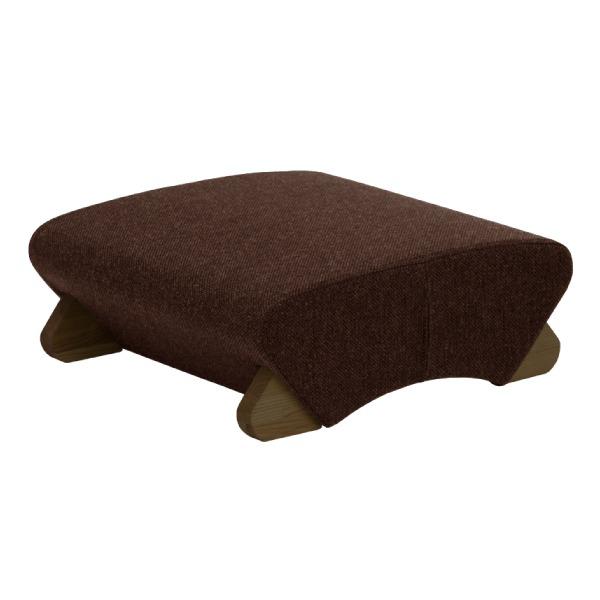 デザイン座椅子 (イス チェア) 脚:ダーク/布:ダークブラウン 【Mona.Dee モナディー】WAS-F 茶
