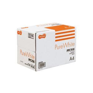 (まとめ) TANOSEE PPC パソコン 用紙 Pure White A4 1箱(2500枚:500枚×5冊) 【×10セット】