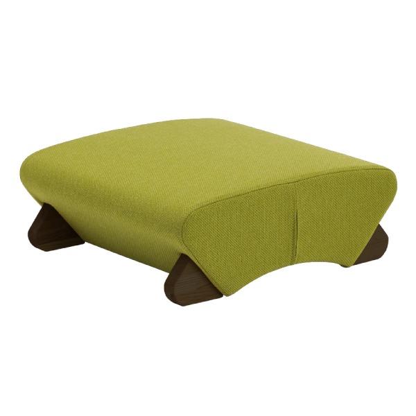 デザイン座椅子 (イス チェア) 脚:ダーク/布:グリーン 【Mona.Dee モナディー】WAS-F 緑