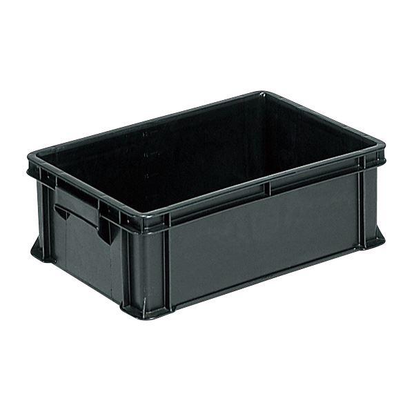 (業務用10個セット)三甲(サンコー) ベタ目コンテナボックス/サンボックス 導電性PP 36B(2) ブラック(黒) 黒