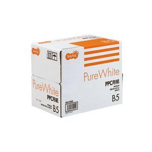 (まとめ) TANOSEE PPC パソコン 用紙 Pure White B5 1箱(2500枚:500枚×5冊) 【×10セット】