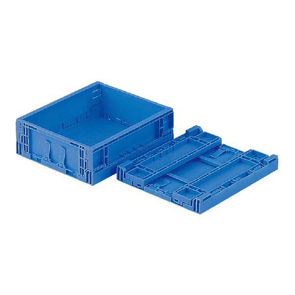 (業務用20個セット)三甲(サンコー) 折りたたみコンテナボックス/EPオリコン 【内倒れ式】 ベタ目 EP5B ブルー(青) 青