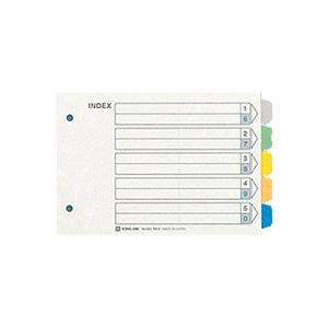 (業務用60セット) キングジム カラーインデックス/ファイル用仕切り 【B6/2穴 ヨコ型】 1パック10組入り 902 【×60セット】