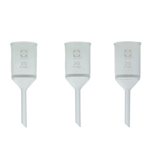 【柴田科学】ガラスろ過器 3G 円筒ロート形 3GP160【3個】 013110-3160A