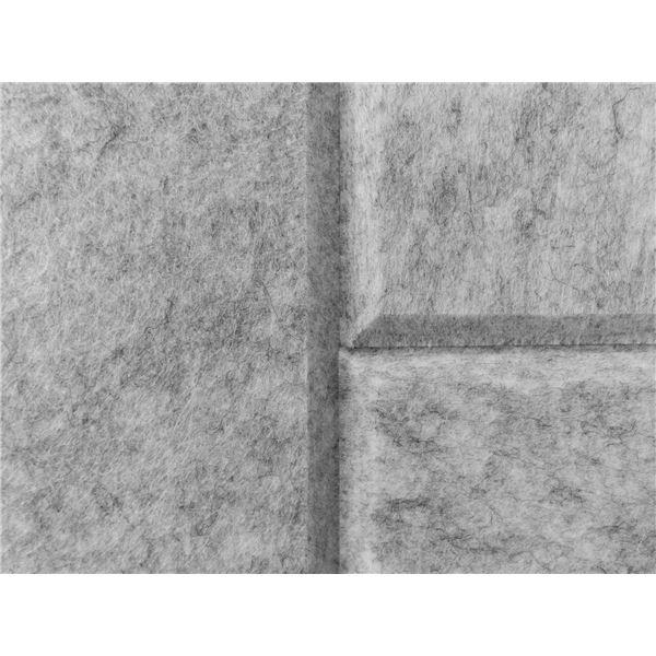 吸音パネル/防音フェルトボード 【40×40cm 同色30枚組/ホワイト】 45度カット 簡単取り付け