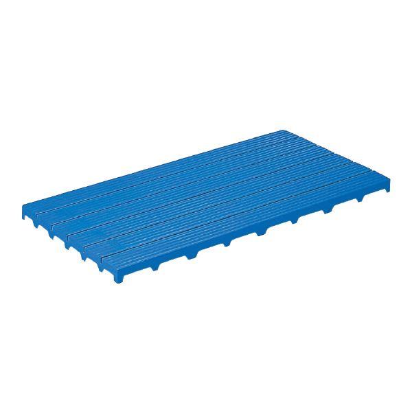 (業務用4個セット)三甲(サンコー) サンスノコ(すのこ 蒸れにくく 通気性が良い 板/敷き板) 1195mm×591mm 樹脂製 #1260 ブルー(青) 青