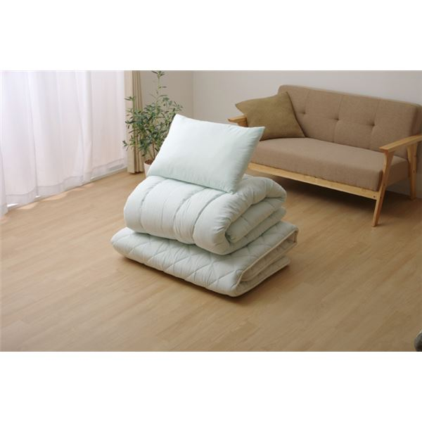 【日本製】【送料無料】寝具3点セット 抗菌防臭 アレル物質吸着 『ヌード アレルプルーフ』 シングルサイズ