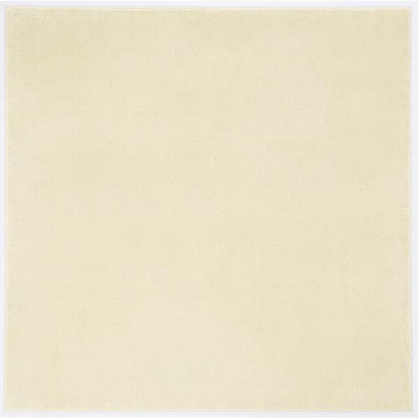 防炎&防音 ナイロンラグ/絨毯 【140cm×200cm アイボリー】 長方形 日本製 国産 『カーム』 〔リビング〕 乳白色