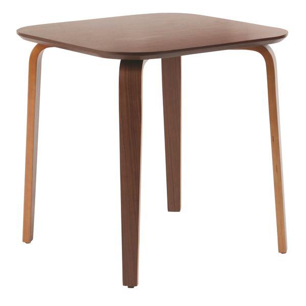 ダイニングテーブル/リビングテーブル 【正方形 幅70.5cm】 木製/ウォールナット材突板  ミディアムブラウン【代引不可】