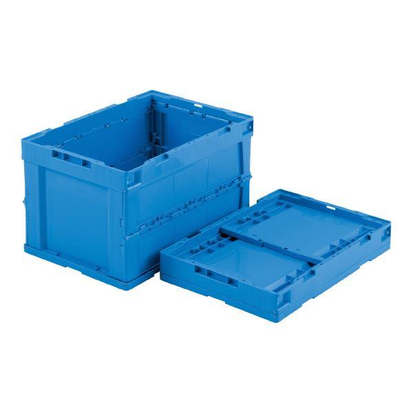 (業務用5個セット)三甲(サンコー) 折りたたみコンテナボックス/オリコン 【51L】 P51B-B ブルー 【フタ別売り】【代引不可】