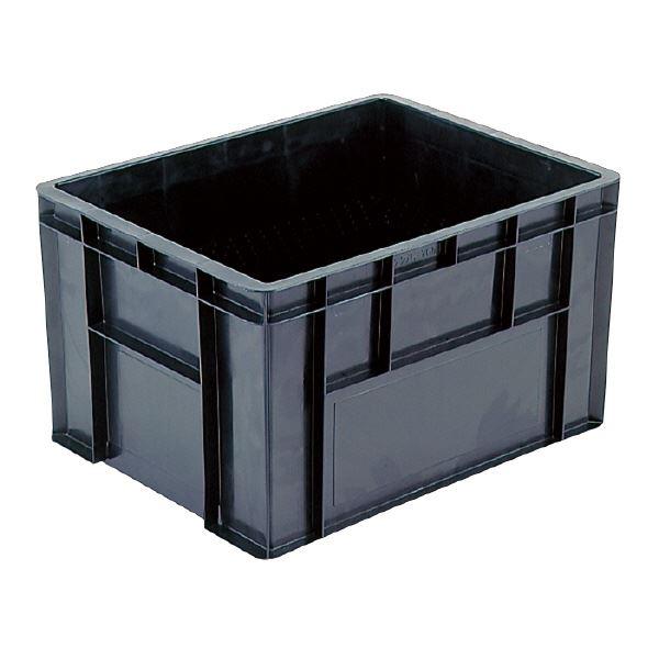 三甲(サンコー) 導電性コンテナボックス/テンバコ 【76.3L】 段積み可 ED-76M ブラック(黒) 黒
