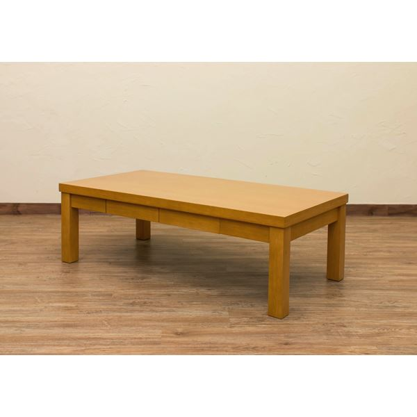 引き出し付きセンターテーブル/ローテーブル 【長方形 幅120cm】 ナチュラル 木製 アジャスター付き 木目調 『Dione』【代引不可】
