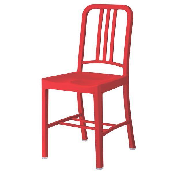 (2脚セット)東谷 チェア (イス 椅子) レッド CL-797RD 赤