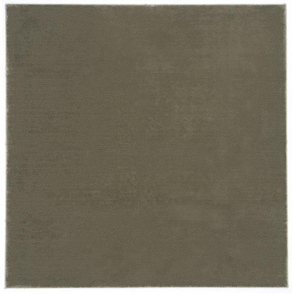 防炎&防音 ナイロンラグ/絨毯 【200cm×200cm グレーベージュ】 正方形 日本製 国産 『カーム』 〔リビング〕