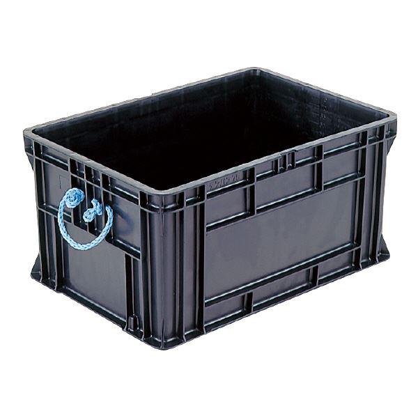 三甲(サンコー) 導電性コンテナボックス/テンバコ 【77.9L】 段積み可 ED-75 ブラック(黒)【代引不可】