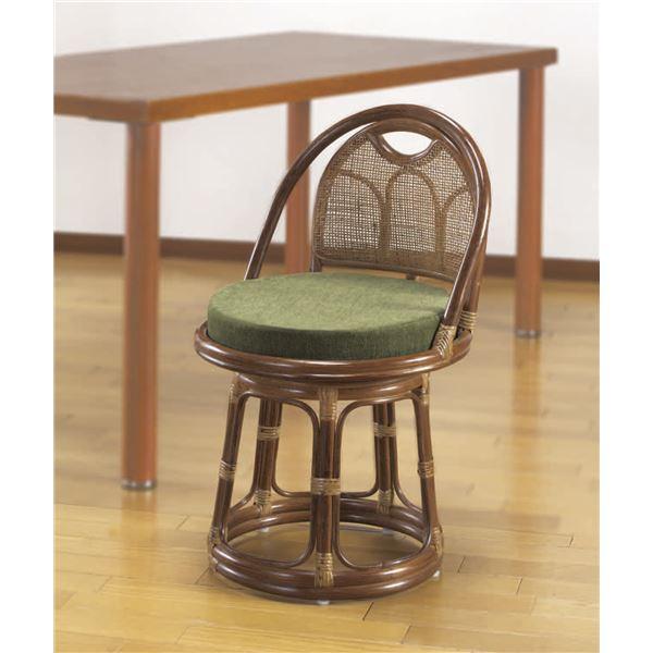 天然籐回転チェア (イス 椅子) ハイタイプ 高い