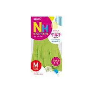 【送料無料】(業務用20セット) ショーワ ナイスハンドミュー中厚手M グリーン 10双( グリーン 緑 )