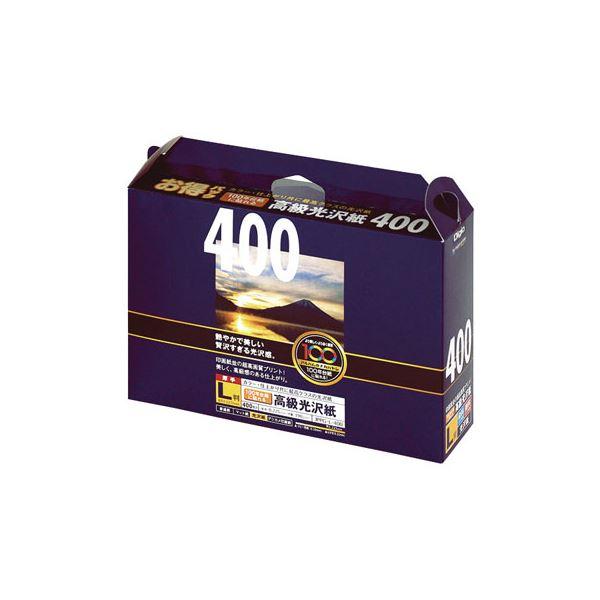 (業務用セット)ナカバヤシ インクジェット光沢紙 100年台紙に貼れる高級光沢紙 L判:400枚 JPPG-L-400【×5セット】