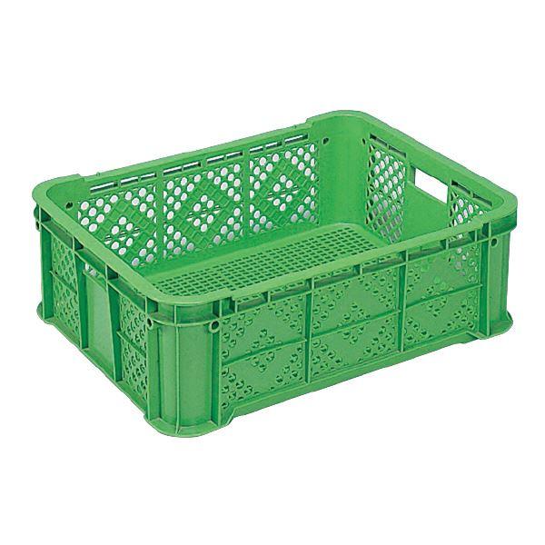 (業務用5個セット)三甲(サンコー) 全面網目コンテナボックス/サンテナー スタッキング可 B40-3 グリーン(緑) 【代引不可】