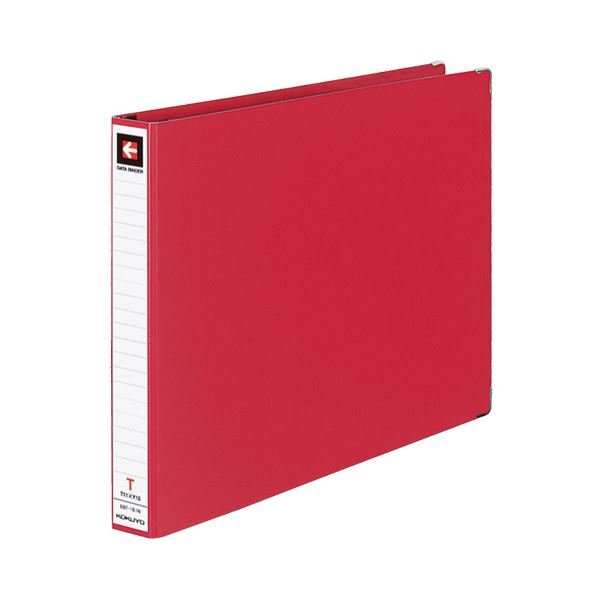 (まとめ) コクヨ データバインダーT(バースト用・レギュラータイプ) T11×Y15 22穴 280枚収容 赤 EBT-151NR 1冊 【×10セット】