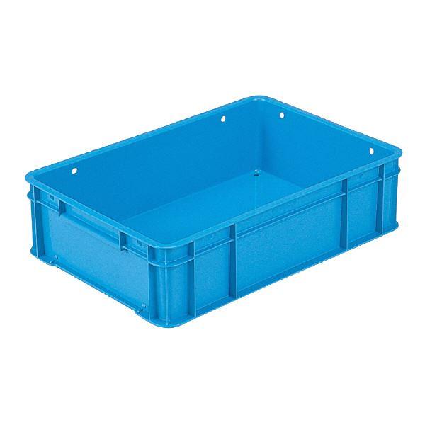 全面ベタ目のスタンダードなコンテナBOX 多目的通箱 収納容器 まとめ 三甲 サンコー ベタ目コンテナボックス ブルー 28-5 青 超定番 サンボックス 孔有 ×10セット セール特価