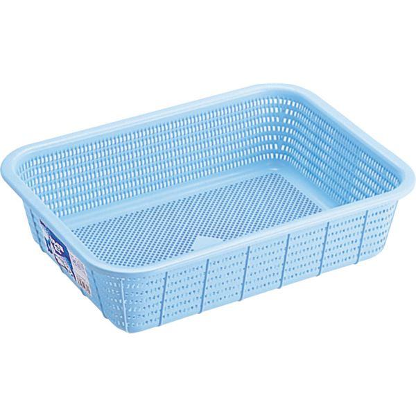 【20セット】 キッチン 台所 バスケット/キッチン 用品 【Mサイズ】 ブルー 材質:PP メッシュ形状 『HOME&HOME』 青
