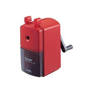 (業務用30セット) カール事務器 手動鉛筆削ソアー CS-103-R レッド 赤