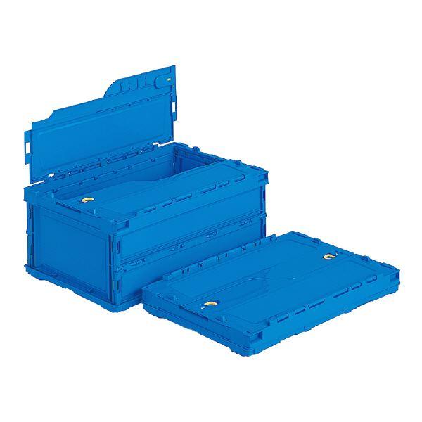 (業務用5個セット)三甲(サンコー) 折りたたみコンテナボックス(ペタンコ/サンクレットオリコン) C-30B ブルー(青) 青