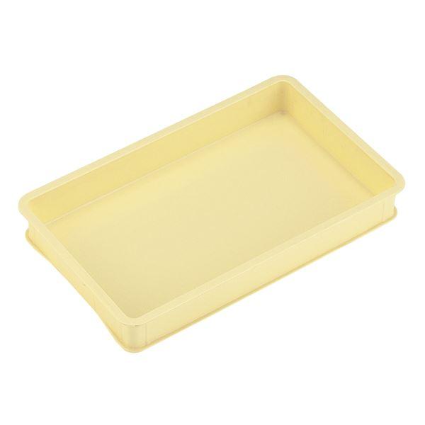 【10個セット】 パンコンテナー/食品用コンテナー 【特大型 大きい 浅】 アイボリー 清掃簡単 乳白色