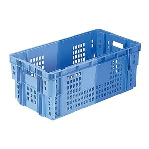 (業務用6個セット)三甲(サンコー) SNコンテナ/2色コンテナボックス 【Cタイプ】 #50 ブルー×ライトブルー 【代引不可】