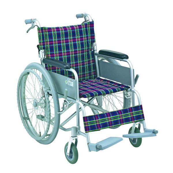 アルミ製 車椅子 (イス チェア) 【背折れタイプ】 自走・介助兼用 軽量 折り畳み ハンドブレーキ付き SG取得商品 〔介護用品 福祉用品〕