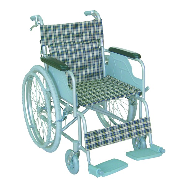 アルミ製 車椅子 (イス チェア) 【背折れタイプ】 自走・介助兼用 軽量 折り畳み テイコブハンドブレーキ付き 〔介護用品 福祉用品〕