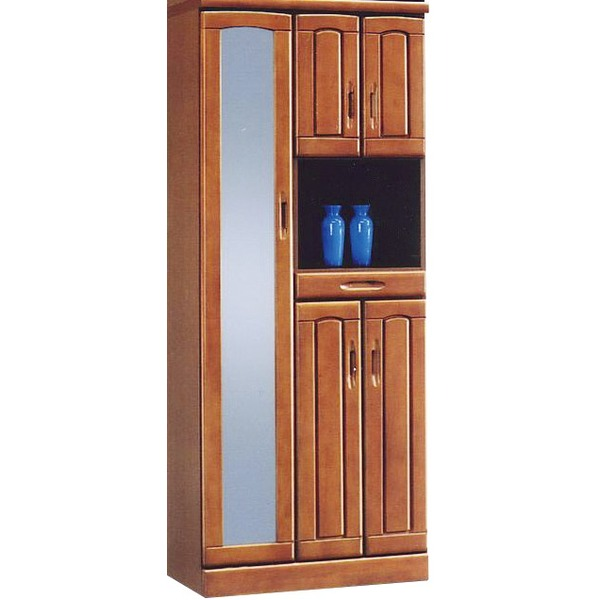 ハイシューズボックス(下駄箱) 幅74cm×奥行40cm×高さ180cm 木製 棚板付き 日本製 ブラウン 【Horizon3】ホライゾン3 【完成品】【代引不可】