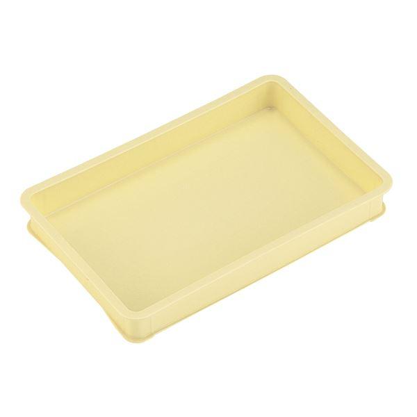 【10個セット】 パンコンテナー/食品用コンテナー 【大型 大きい 浅】 アイボリー 清掃簡単 乳白色