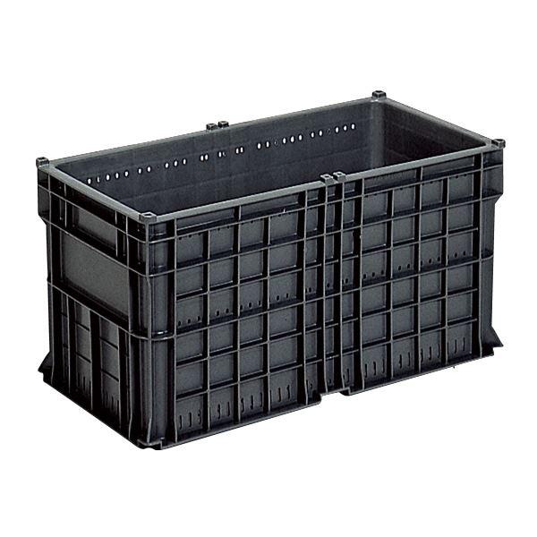 (業務用6個セット)三甲(サンコー) 全面網目コンテナボックス/サンテナー スタッキング可 B60 S1 グレー(灰)