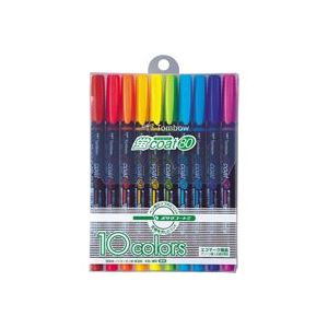 (業務用50セット) トンボ鉛筆 蛍光マーカー/蛍コート80 【10色セット】 WA-SC10C