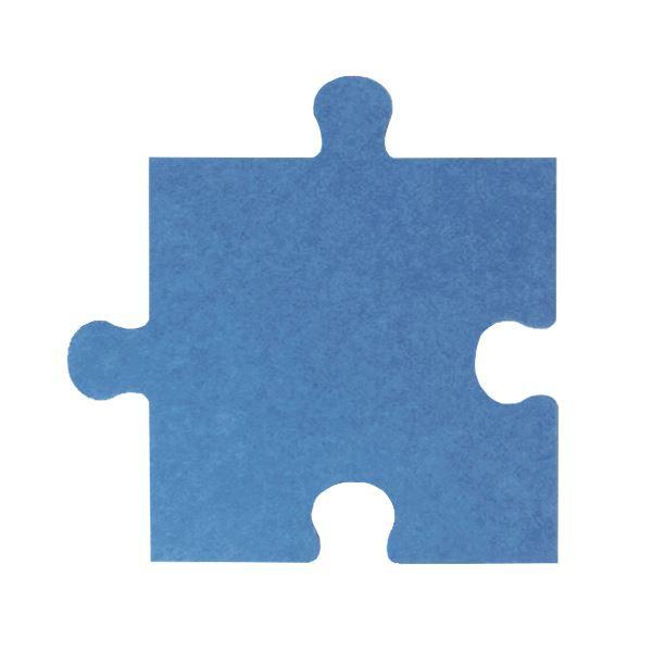 パズル型吸音パネル/防音フェルトボード 【床用/40×40cm 同色30枚組 ブルー】 滑止め加工付き 簡単カット