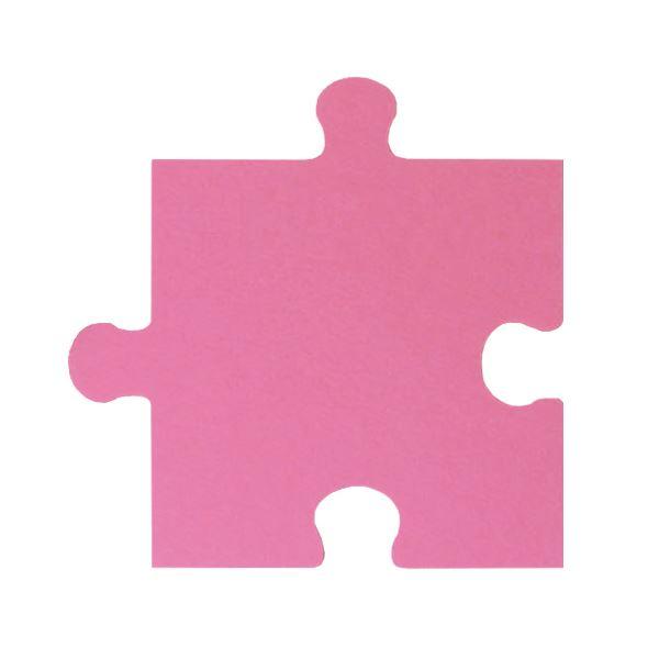 パズル型吸音パネル/防音フェルトボード 【床用/40×40cm 同色30枚組 ピンク】 滑止め加工付き 簡単カット