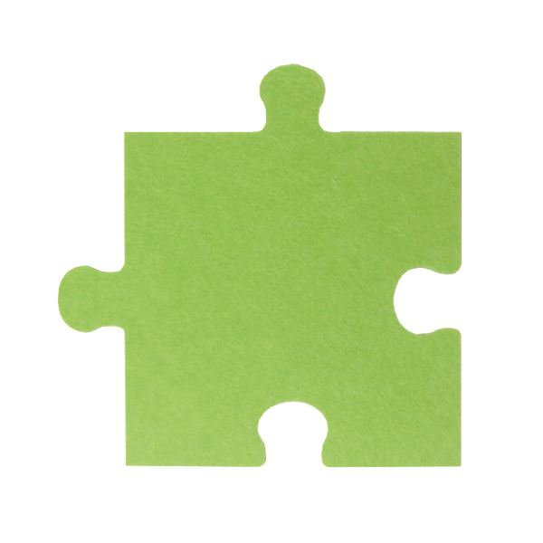 パズル型吸音パネル/防音フェルトボード 【床用/40×40cm 同色30枚組 グリーン】 滑止め加工付き 簡単カット 緑