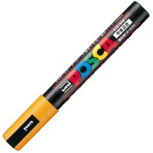 (業務用200セット) 三菱鉛筆 ポスカ/POP用マーカー 【中字/山吹】 水性インク PC-5M.3