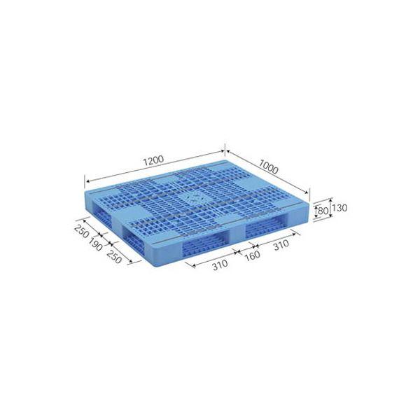 三甲(サンコー) プラスチックパレット/プラパレ 【両面使用型】 段積み可 R4-1012-6 ライトブルー(青) 青