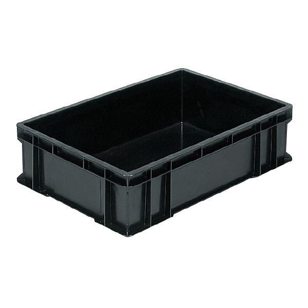 (業務用5個セット)三甲(サンコー) ベタ目コンテナボックス/サンボックス 導電性PP 56C ブラック(黒) 【代引不可】